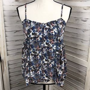 AMERICAN EAGLE | Floral Button Tank